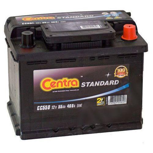 Akumulator Centra Standard 12V 55Ah 460A P+ (wymiary: 242 x 175 x 190) (CC550)