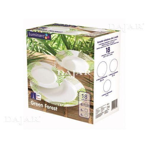 Komplet obiadowy Green Forest 18-elementowy LUMINARC - sprawdź w sklep.DAJAR.pl