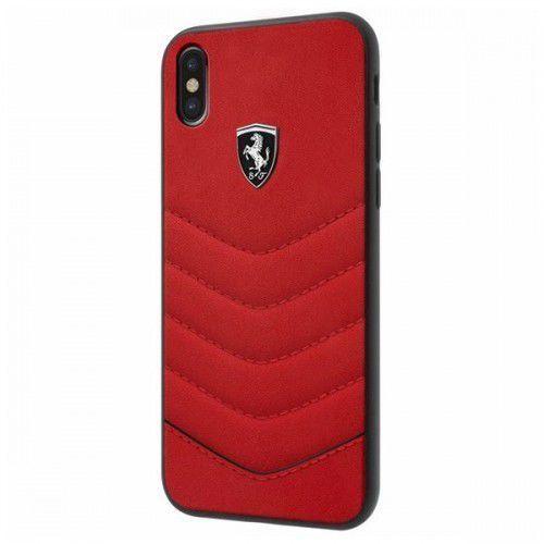 heritage hardcase - skórzane etui iphone x (czerwony) marki Ferrari