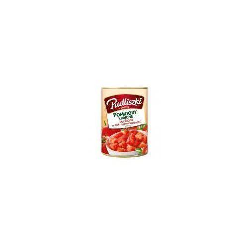 Pudliszki Pomidory krojone bez skórki w soku pomidorowym 400 g