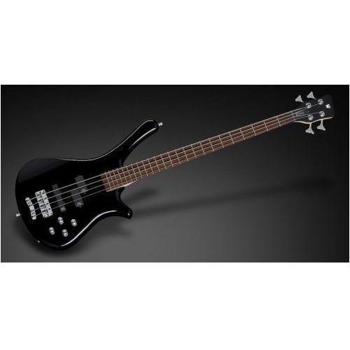 RockBass Fortress 4-String, Black Solid High Polish, Active, Fretted gitara basowa