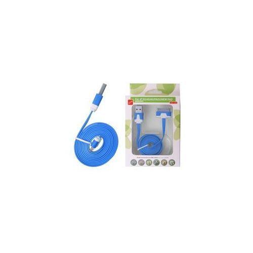 Global Technology KABEL USB IPAD 3/2 IPHONE 4S/S PŁASKI NIEBIESKI - sprawdź w wybranym sklepie