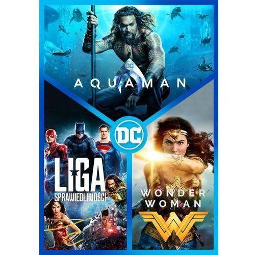 DC PAKIET 3 FILMÓW (3 DVD) (AQUAMAN, LIGA SPRAWIEDLIWOŚCI, WONDER WOMAN) (Płyta DVD) (7321930351745)