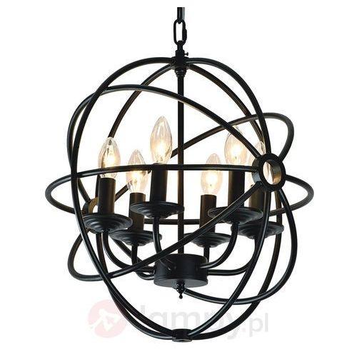 Żyrandol LAMPA wisząca CAGE 9500604 Spotlight świecznikowa OPRAWA metalowy zwis klatka czarna, 9500604