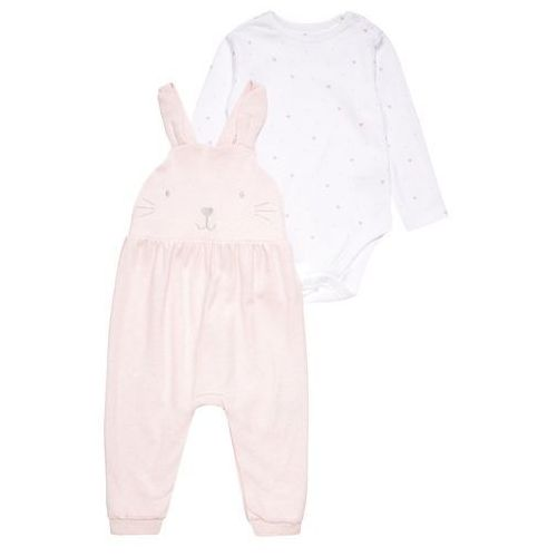 mothercare NOVELTY DUNGAREE BABY SET Body barely pink