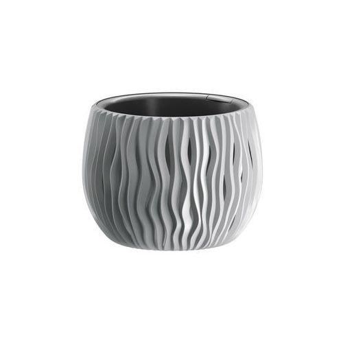 Doniczka Sandy Bowl z wkładem 18 cm szara, DSK180