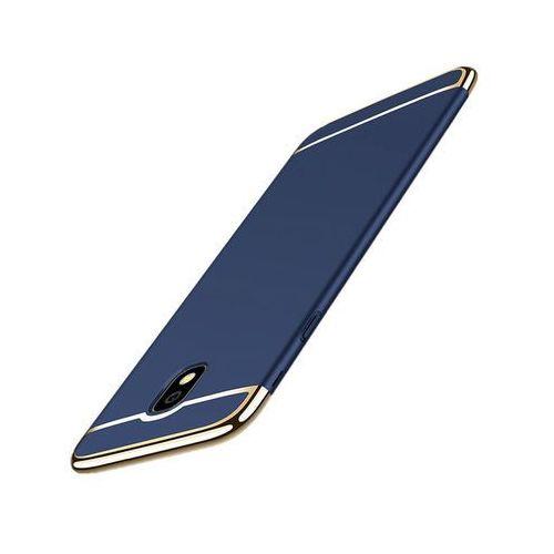 Etui luxury 3w1 Samsung Galaxy J5 2017 (J530) Niebieskie + Szkło - Niebieski