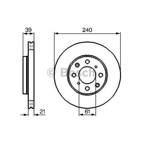 Bosch tarcza hamulcowa; przednia, 0 986 479 033 (4047024096073)