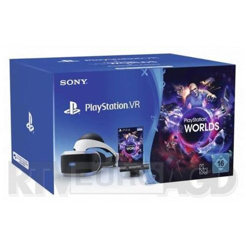 Sony playstation vr + playstation 4 camera v2 + vr worlds (voucher) - produkt w magazynie - szybka wysyłka! (0711719952060)
