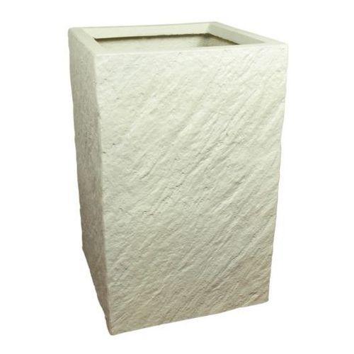 Donica kompozytowa kwadratowa 30 x 30 x 47 cm biały marki Cermax
