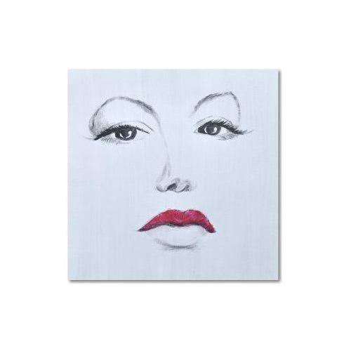 Red lips, nowoczesny obraz ręcznie malowany (obraz)