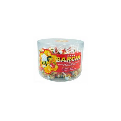 Bartpol lizak barcik z propolisem, miodem i witaminą c o smaku malinowym 60szt. tuba