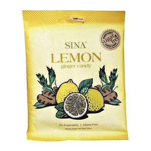 Cukierki imbirowe z cytryną, bez dodatku cukru 36g - Sina