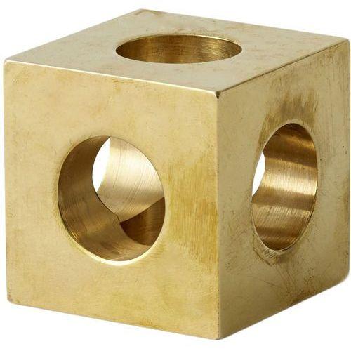 Świecznik Cube Menu mosiężny (4762839)