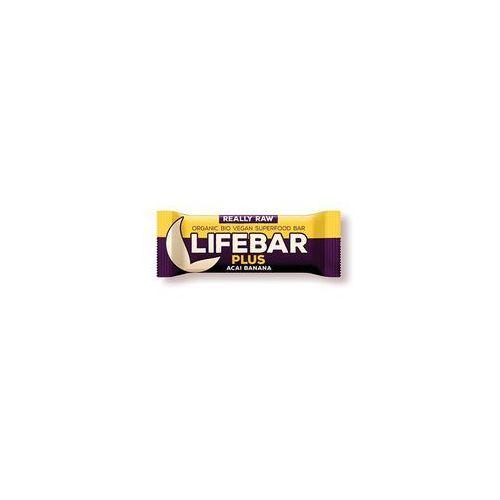Baton z acai i bananem raw bezglutenowy bio 47 g - lifefood marki Lifefood (batony raw, syrop z jakonu)