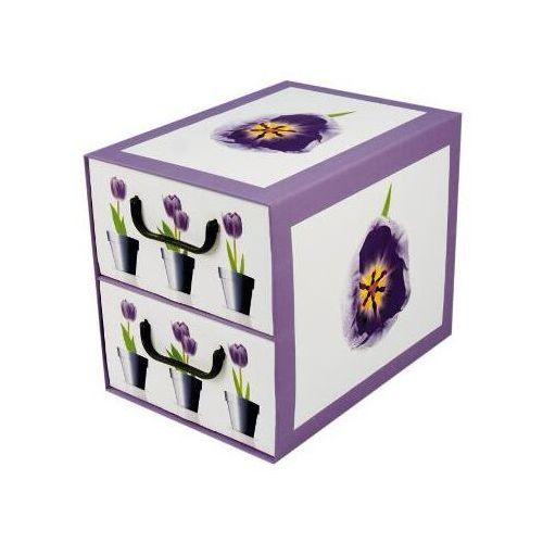 Pudełko kartonowe 2 szuflady pionowe DONICZKI-TULIPANY - oferta [05d64f7b27a5d5c0]