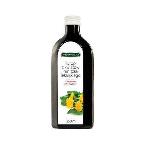 250ml syrop z kwiatów mniszka lekarskiego z dodatkiem soku z cytryny marki Premium rosa