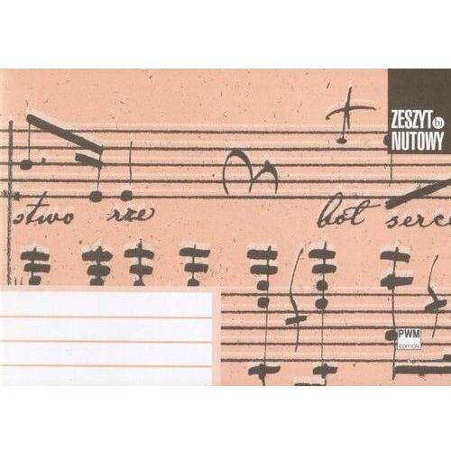 Polskie wydawnictwo muzyczne Zeszyt nutowy b1 - a5 leżący - 4 linie pwm (9788322407431)