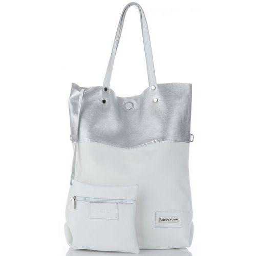 46b9d6b90f13f Uniwersalne torebki skórzane duży włoski shopper xxl marki biały (kolory)  marki Vittoria gotti 259,00 zł lubisz torby, których objętość zdaje się nie  ...