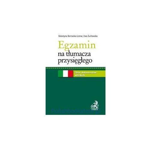 Egzamin na tłumacza przysięgłego Zbiór dokumentów włoskich, oprawa miękka