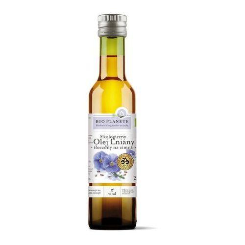 Olej lniany virgin bio 250 ml - bio planete marki Bio planete (oleje i oliwy)
