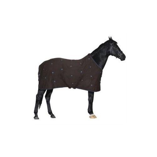 Derka York Nelia bawełniana z polarem kolor brązowy - produkt dostępny w Pro-horse Sklep Jeździecki