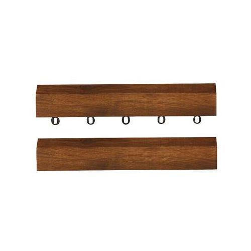 Listwa boczna do tarasów drewnianych 30cm akacja 2szt (deska tarasowa)