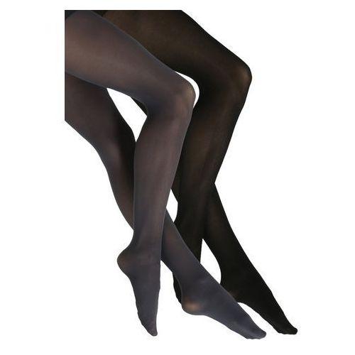 DKNY Intimates OPAQUE 2 PACK Rajstopy flannel grey/black od Zalando.pl