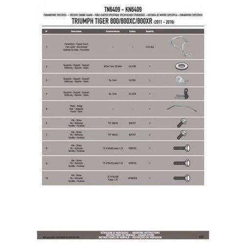 Kappa kn6409 gmole osłony silnika triumph tiger 800 / 800 xc / 800 xr (11-16)