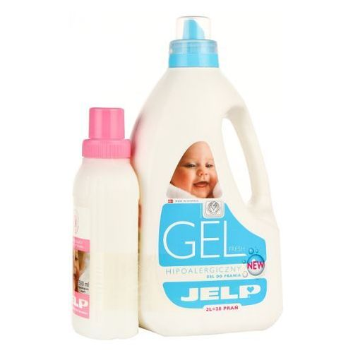 JELP 2l Fresh żel do prania (28 prań) + 500ml Płyn zmiękczający do płukania tkanin (proszek do prania ubrań)