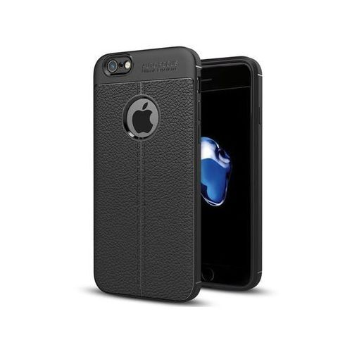 Alogy Etui pancerne leather case tpu iphone 7/8 czarne + szkło