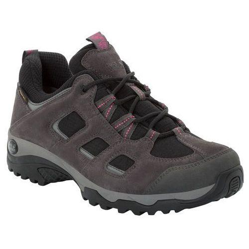 Jack wolfskin Buty turystyczne dla kobiet vojo hike 2 texapore low w dark steel / black - 7,5