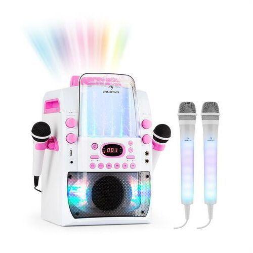 Auna Kara Liquida BT zestaw karaoke różowy + 2 mikrofony Dazzl LED