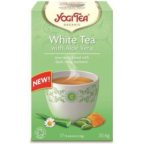 Herbata biała z aloesem bio (17 x 1,8 g) 30,6 g - yogi tea marki Yogi tea dystrybutor: bio planet s.a., wilkowa wieś 7, 05-084 leszno k