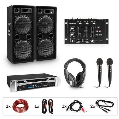 estar block-party ii zestaw dj wzmacniacz pa mikser dj 2xsubwoofer słuchawki marki Electronic-star