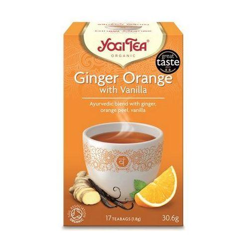Herbata Imbirowo Pomarańczowa z Wanilią BIO (Yogi Tea) 17 saszetek po 1,8g, YOGI