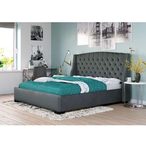 Łóżko tapicerowane do sypialni 160x200 1294g popiel marki Meblemwm