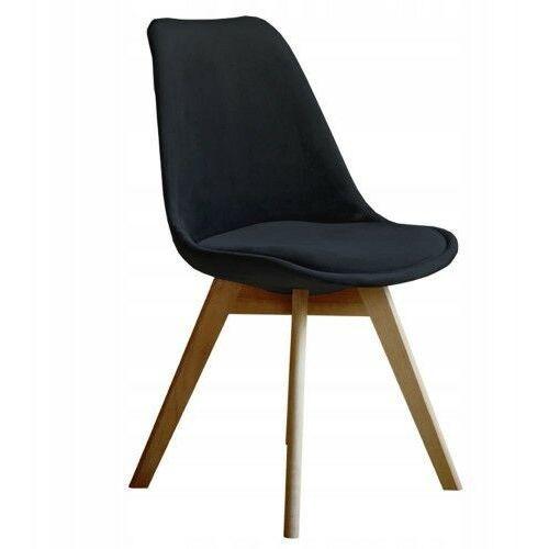 Meblemwm Nowoczesne krzesło art132c czarny welur (9999001160657)
