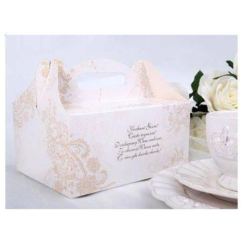 Ozdobne pudełko na ciasto weselne 1sztuka (5901157449054)
