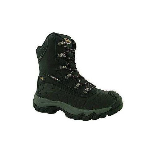 American club Śniegowce buty skórzane damskie los7573 czarny 38
