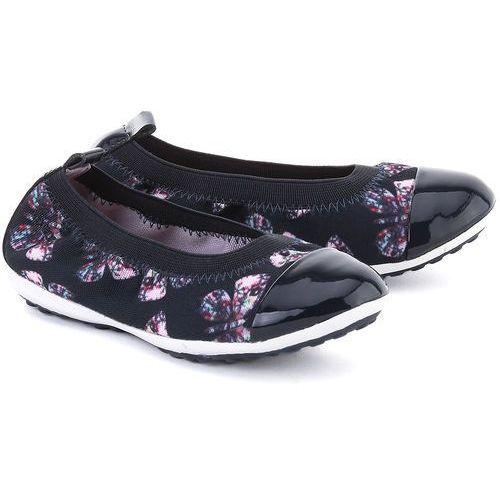 GEOX Junior Piuma - Granatowe Canvasowe Baleriny Dziecięce - J62B0B 0AN02 C4002 od MIVO Shoes Shop On-line