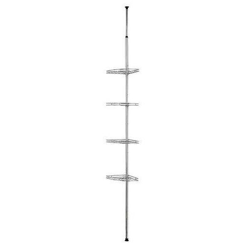 Wenko Narożna, teleskopowa półka łazienkowa pod prysznic - aż 4 poziomy,