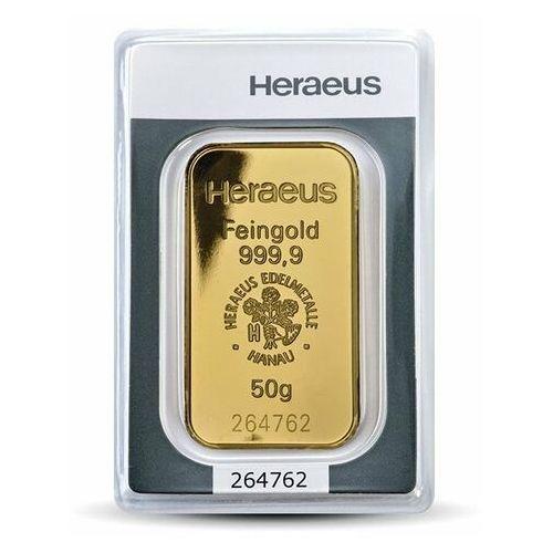 Argor-heraeus, pamp, perth mint 50 g sztabka złota