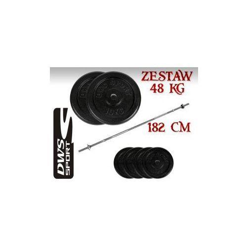 ZESTAW KULTURYSTYCZNY SZTANGA HANTLE ŻELIWNE 48 kg GRYF 182cm - produkt z kategorii- gryfy i sztangi