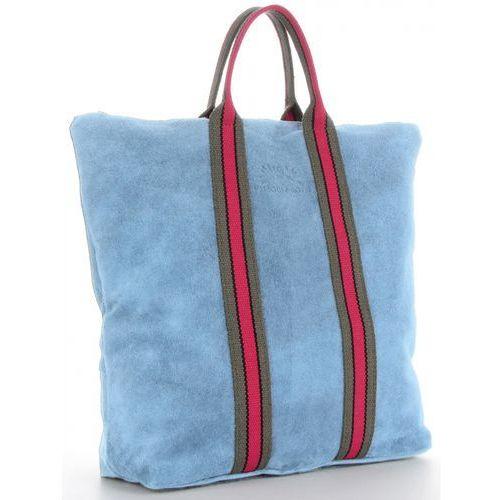 b1f7ac75ad2d7 Praktyczne Torebki Skórzane z funkcją Plecaka Włoski Shopper XL w modne  paski renomowanej marki Vittoria Gotti Błękit (kolory) 235,00 zł Stylowa i  poręczna ...