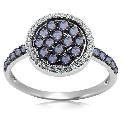Pierścionek z brylantami i szafirami, pierścionek Biżuteria YES