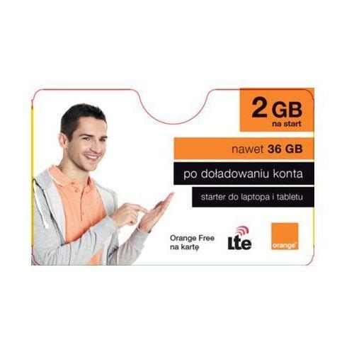 Starter free na kartę 2gb na start marki Orange