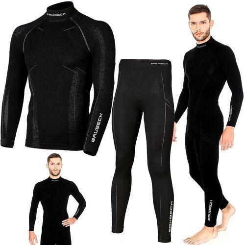 Bielizna termoaktywna BRUBECK EXTREME WOOL komplet MĘSKI koszulka+spodnie czarny L (LS11920+LE11120), B0634