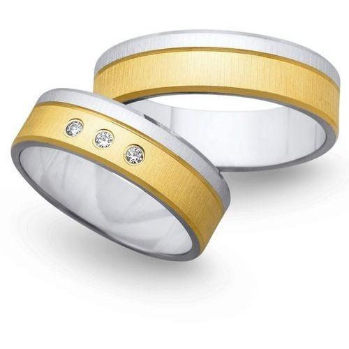 Obrączki z żółtego i białego złota 6mm - O2K/023 - produkt dostępny w Świat Złota