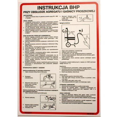 Instrukcja bhp przy obsłudze agregatu i gaśnicy proszkowej marki Techem